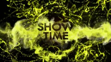 Show Time Text in Particles — Stock Video