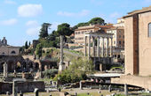 Ancient Roman Empire ruins in Rome — Stock Photo