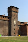Tower of Sforza Castle in Milan — Stock Photo