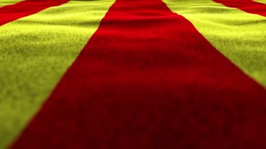 Yellow and Red Textile Flag Background — Stock Video