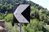 Road Sign and Shooting Bullet — ストック写真