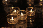 Wax Candles in Church — Stock Photo