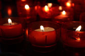 Candles in church closeup — Stock Photo