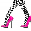 Woman leg with pink high heel shoes — Stock Photo #53438549