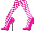 Woman legs with pink high heel shoes — Stock Photo #53438569