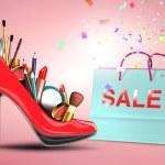 Cosmetics in woman shoe — Stock Photo #53439685