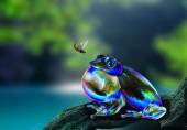 Fantasy frog hunting insect — Foto de Stock