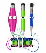 Cartoon crayons — Stock Photo