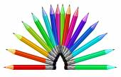 Colored crayons palette — Stock Photo
