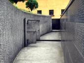 Corridor with concrete walls — Stock Photo