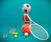 Assorted sports equipment — Stock Photo