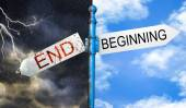 Beginning or ending concept — Stock Photo