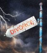 Concept for divorce and broken relationship — Φωτογραφία Αρχείου