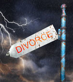 Concept for divorce and broken relationship — Zdjęcie stockowe