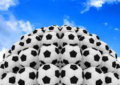 Soccer balls isolated on a white background — Stock Photo