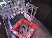3d Abstract surreal interior — Stockfoto