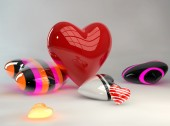 Valentines Day Hearts — Stock Photo