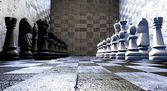 Giant chess games — Foto de Stock