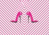 Icon of woman's shoes — Stock Photo