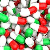 Muitos medicamentos coloridos — Foto Stock
