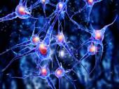 病毒攻击神经细胞 — 图库照片