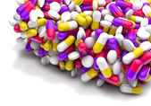 Many colorful medicines — Stock Photo