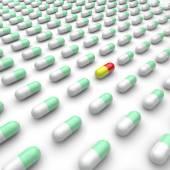 Muchas medicinas coloridos — Foto de Stock