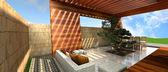 3d render of modern house,original design — Stock Photo