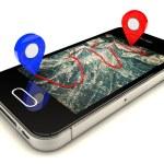Mobile GPS navigation — Stock Photo #58414601