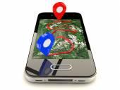 Mobile GPS navigation — Stock Photo