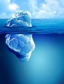 Underwater view of iceberg — Stock Photo