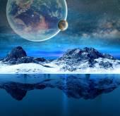 Подводный вид Айсберг — Стоковое фото