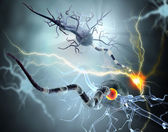 High quality 3d render of nerve cell isolated on white background — Stock Photo
