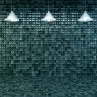 Blank wall with place for text illuminated by lamps above,3d render — Stock Photo #67100791