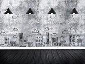 墙上的绘图业务概念。 — 图库照片