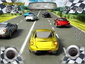 Car racing video game — Stock Photo