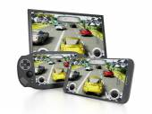 Portable video game device — Foto Stock
