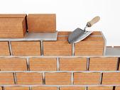 Costruzione del muro — Foto Stock