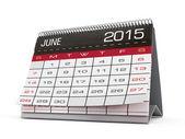 June 2015 calendar — Stok fotoğraf