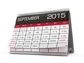 September 2015 calendar — Stok fotoğraf