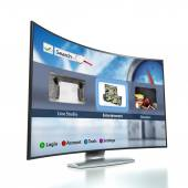 Curved Smart TV with OLED screen — Stock Photo