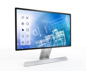 3D design software on computer screen — Stock Photo