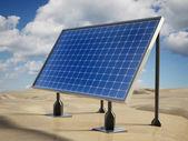 Solar panel on the desert — Stock Photo