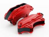 High performance brake calipers — Stock Photo