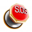 Emergency SOS button — Stock Photo #57764609