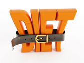 Belt and diet word — Stock Photo