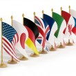 G8 country flags — Stock Photo #58199427
