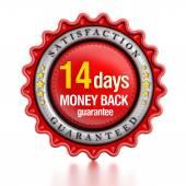 14 days money back stamp — Stock Photo