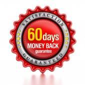 60 days money back stamp — Stock Photo
