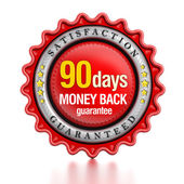 90 days money back stamp — Stock Photo